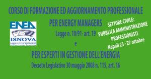 CORSO DI FORMAZIONE ED AGGIORNAMENTO PER ENERGY MANAGER ED EGE @ NAPOLI