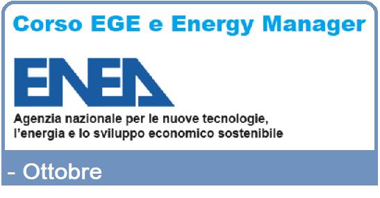 Iscrizione al corso EGE e Energy Manager